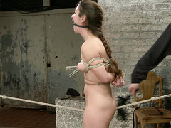 Serena Blair put back in place through whipping, caning and forced cumming