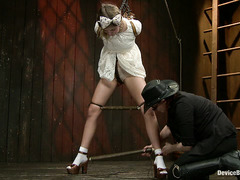 Lia Lor is restrained and pushed to her limits during hardcore BDSM play