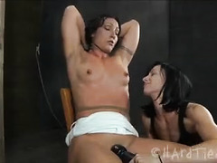 Submissive beauty is whipped and caned before a hard anal fuck