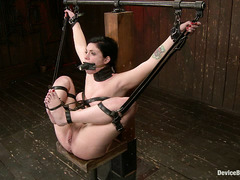 Tied up tramp Andy San Dimas suffers through clothespins torture