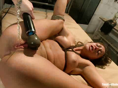 The more her punishment and fucking hurts, the harder Rilynn Rae gets off