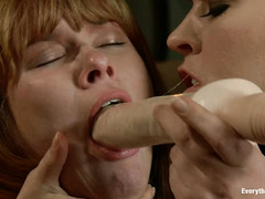Bailey Blue and Claire Robbins are ass fucked until they are gaping