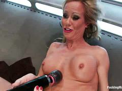 MILF Simone Sonay loves the feeling of dildos in her greedy holes