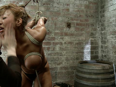 Ave Devine's giant tits are tied and abused by the wonderful Claire