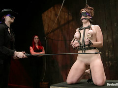 There are no fun and games for bound and tormented sub Bella Rossi