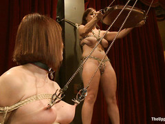 Bella Rossi and other slaves put forth their best during slave training