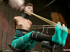 Hot wax and nipple clamps have Nikki Darling moaning for mercy