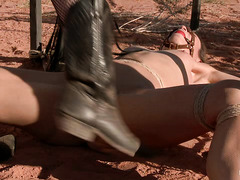 Hitchhiker Amber Rayne is ambushed and fucked by two devious perverts