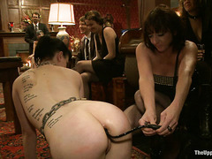 Aiden Starr is invited to test the delicious asses of several slaves