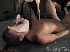 A tricked babe is taken advantage of by two lezdom-loving sluts
