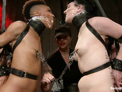 Katharine Cane and Nikki Darling withstand a rigorous session of pain