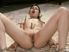 New slave Kristine Kahill is humiliated before her hard fucking
