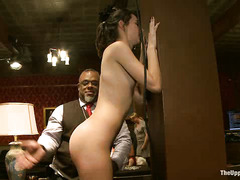 Two slaves become the night's sexy entertainment at the House