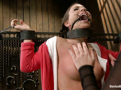 Straps and metal keep Serena Blair bound for her devious Domme