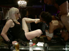 Nikki Darling's tight body is used by everyone in this bar