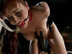 Felony uses a variety of tools to punish the ass of redhead Bella Rossi