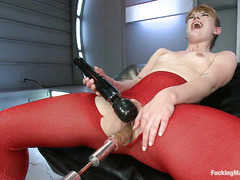 Claire Robbins shudders her way through several orgasms by machine