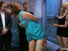 Bianca Stone is used by her Mistress and a room full of guys