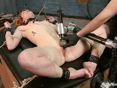 Claire Robbins' first day of training is filled with bondage and pain