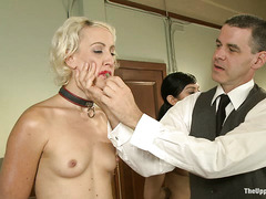 Slaves Dylan and Beretta James prove their are good, obedient girls