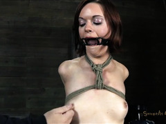 A young slut's mouth is used as a fuck hole for her Master's cock