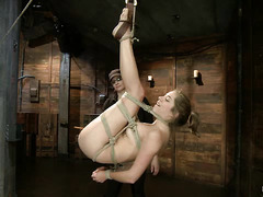 Bound princess Lia Lor is caned and whipped before she's fucked