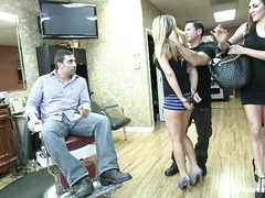 Shani Reid is used by several rough guys at a barber shop