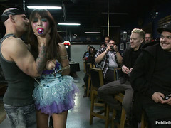 Japanese cutie Marica Hase is humiliated and fucked by tattooed guys