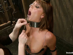 Cassandra Nix is punished by two sexy and demanding Mistresses