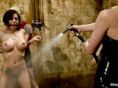Gia DiMarco is taken advantage of by four sexy, brutal Dommes