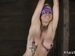 Big-tittied blonde experiences the stretch of an anal encounter