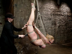 Darling is tied in several uncomfortable positions by her devious Mistress