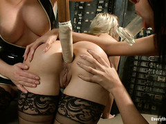 Katja Kassin has fun with the nice, plump asses of Anissa and Anikka