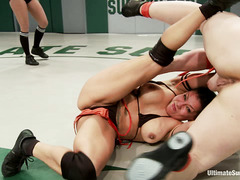 12 amazing girls engage in a massive, nudity-filled wrestling match