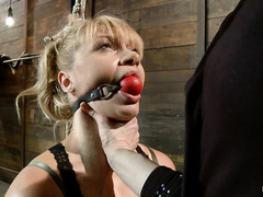 Cute blondes Lea Lexis and Riley James are bound and tormented