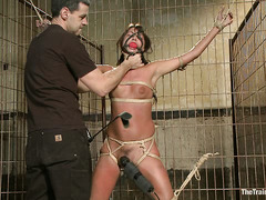 Cassandra Nix's slave training involves getting fucked by a gimp