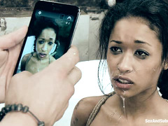 Cheating slut Skin Diamond is taught a harsh and unforgettable lesson