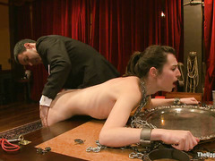 Bella Rossi, Kristine Kahill and other slaves service horny guests