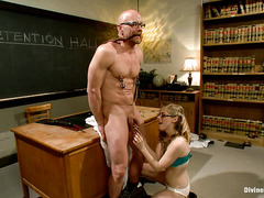Penny Pax teaches her professor an important lesson in cuckolding
