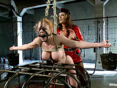 Ariel X has a fun time tying up Darling and tormenting her body