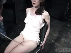 A cute, brunette masochist asks to be caned until she's bruised