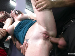 Audrey Hollander finds herself with a gaping asshole after orgy