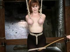 Bondage super-slut Bella Rossi gets her body punished hard