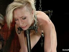 Blonde cutie Maia Davis is dominated by her dark-skinned Master