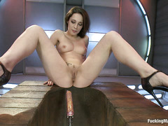 French cutie Nikita Bellucci takes her turn with these fucking machines