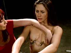 Red-hot models Dani Daniels and Anna Morna are punished harshly