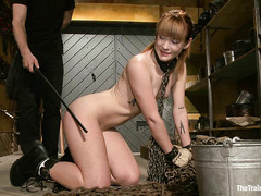 Master Jay uses electricity during Claire Robbins' slave training