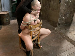 Chanel Preston's body is oiled up for a wonderfully slick BDSM session