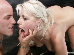 Derrick Pierce helps determine Anikka Albrite's willingness to serve