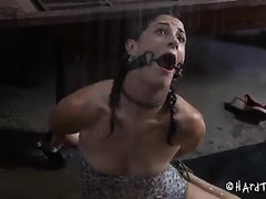 A curious cutie learns about different kinds of bondage play
